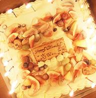 アニバーサリーケーキの画像